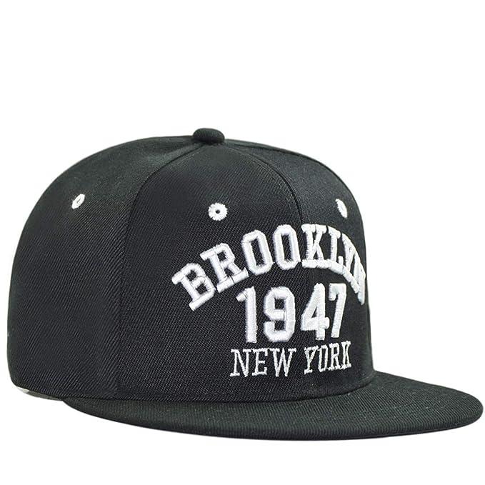 Amazon.com: Gorra de baloncesto para hombre, plana, negra y ...