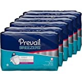 Prevail Breezers Ultimate Absorbency Incontinence Briefs, Medium, 16-Count (Pack of 6)