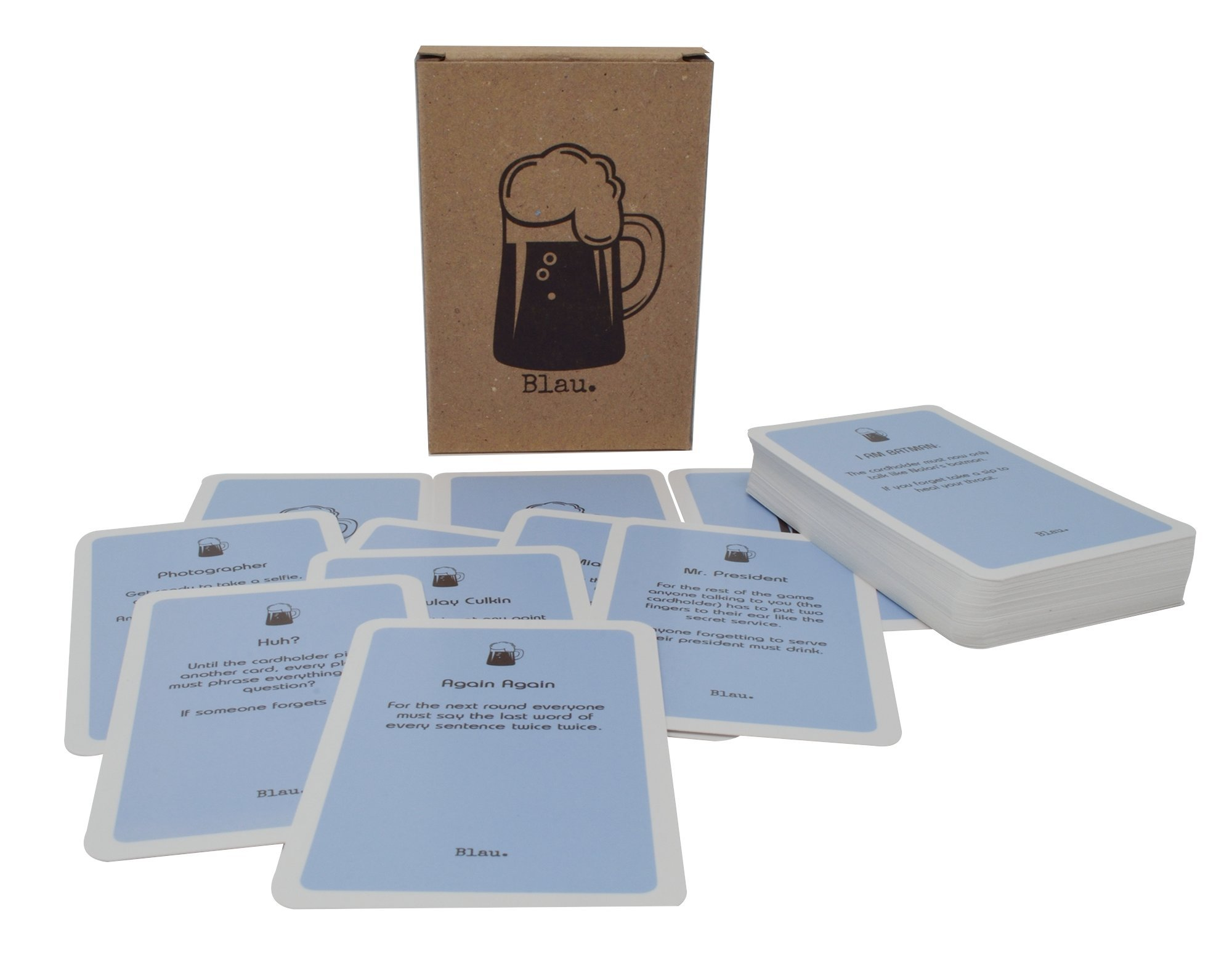 Blau. Drinking Game : Top selling German Drinking Game - 60 Cards - Easy and fun party game , great for students