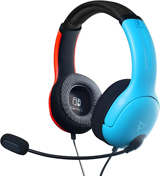 PDP - Auricular Stereo Gaming LVL40 Con Cable, Azul / Rojo (Nintendo Switch): Amazon.es: Videojuegos