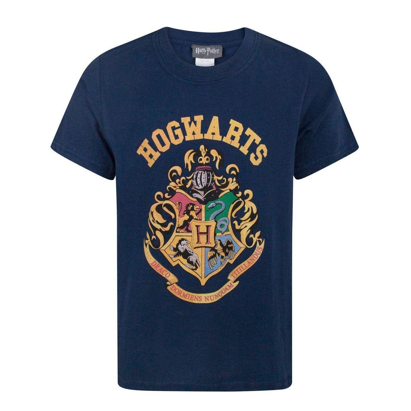 Harry Potter Hogwarts Crest Boy's T-Shirt Fashion UK