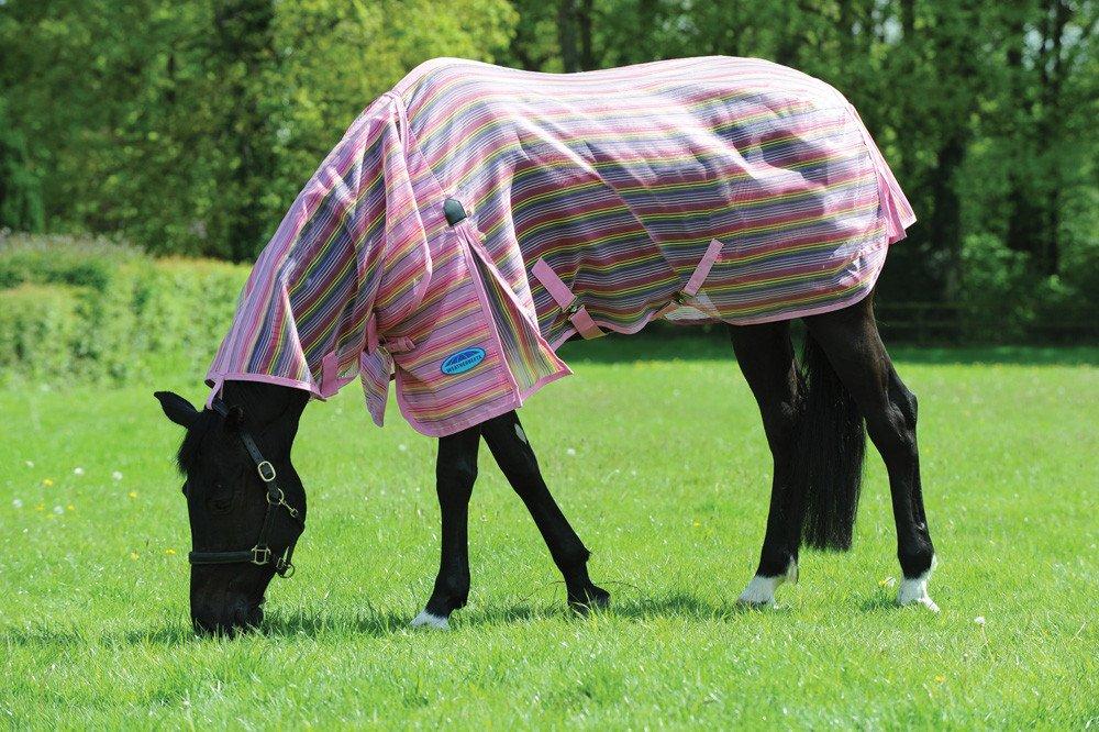 Weatherbeeta Ripshield Plus - Cuello combinado, color rosa y arco iris