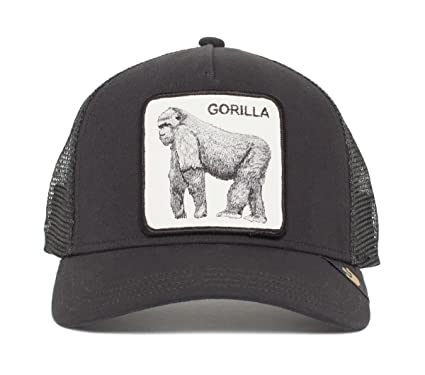 184ce0c695fc06 Goorin Bros. Damen Trucker Cap Gorilla 'King of the Jungle' Black ...