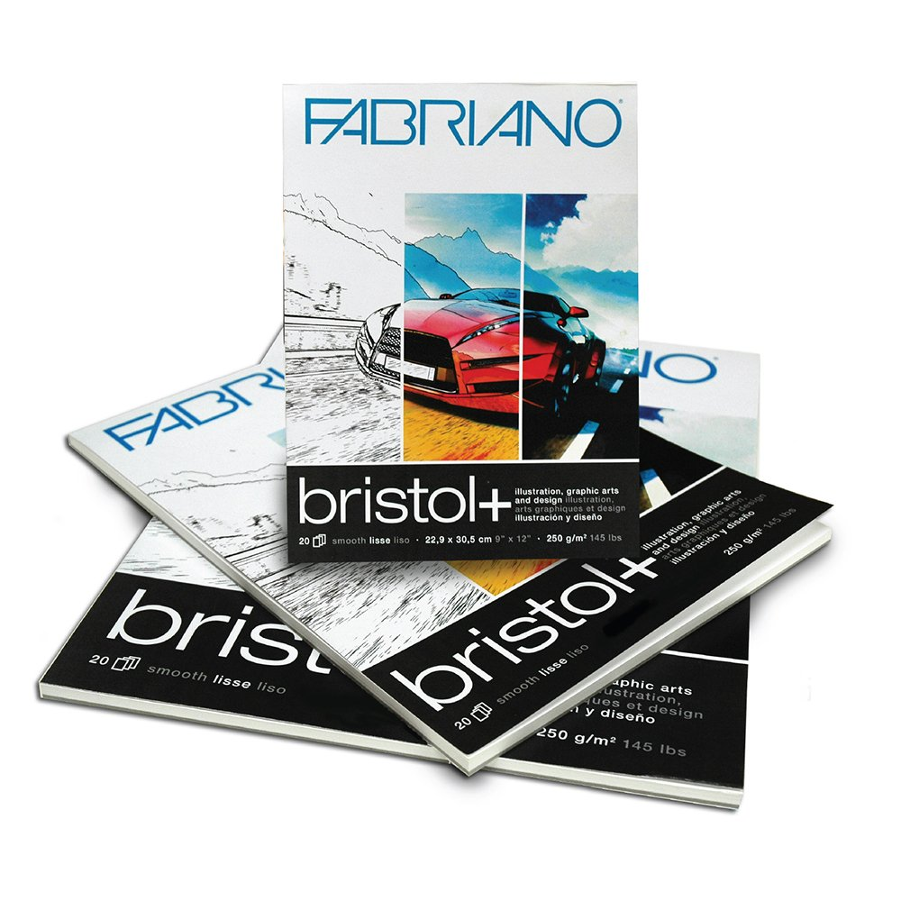 Fabriano Bristol+ Pad (20 sheets) 14x17'