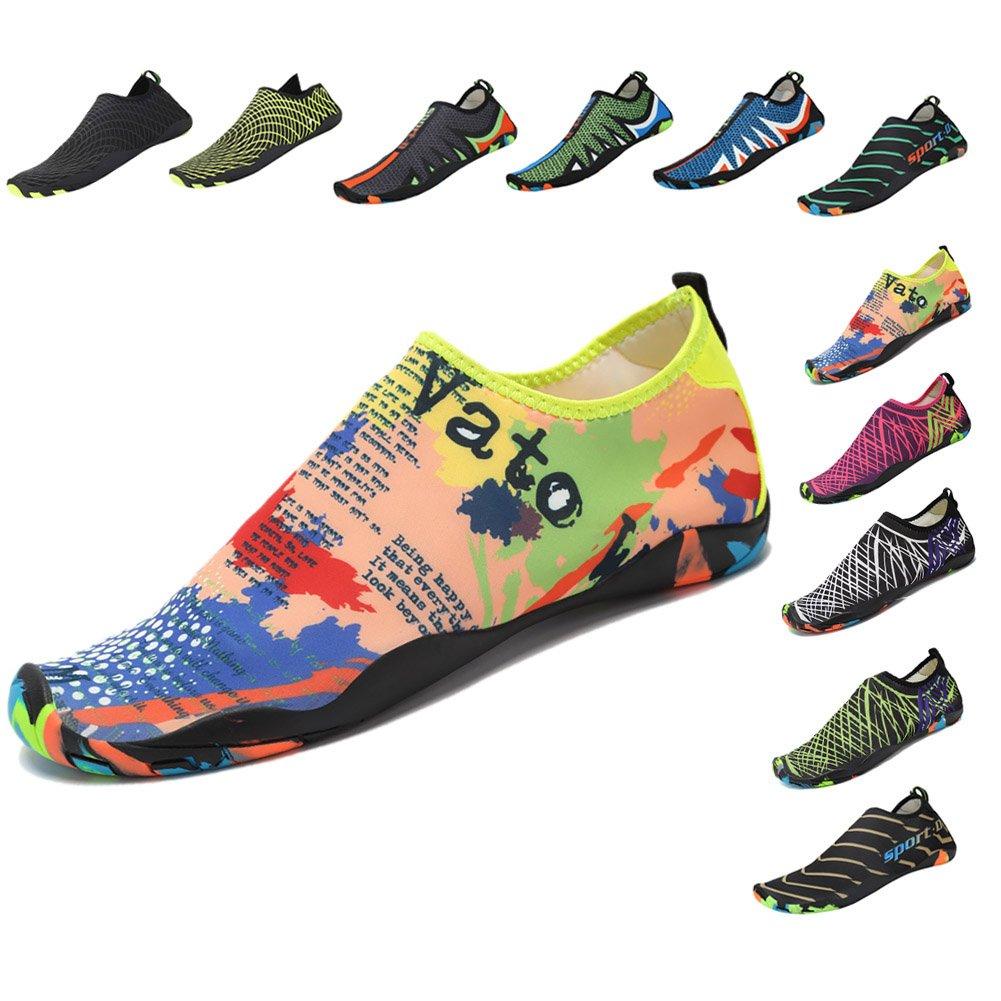 Norbi Outdoor Running Swimming Beach Unisex Light Aqua Water Shoes B07DQBSBJ8 US Women:9.5-10/Men:7.5-8 Multi 9