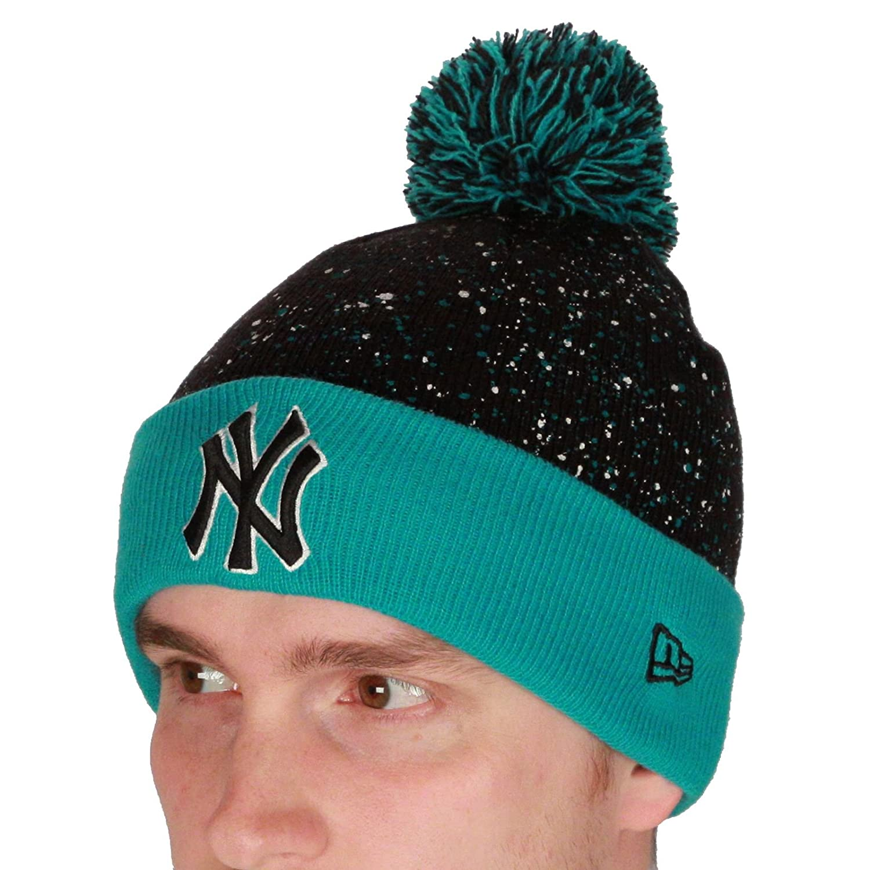 Amazon.com  New Era Men s And Mlb Seasonal Beanie New York Yankees One Size  Green  Clothing edeb2b8ea0a