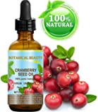CRANBERRY SEED OIL 100% Pure / Natural. Cold Pressed / Undiluted. For Face, Hair and Body. 0.5 Fl.oz.- 15 ml. by Botanical Beauty