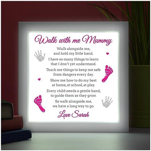 mothers day gifts nanny nana nan granny gran personalised led box