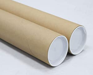 3 inch x 30 inch, Mailing Tubes with Caps (2 Pack) | MagicWater Supply