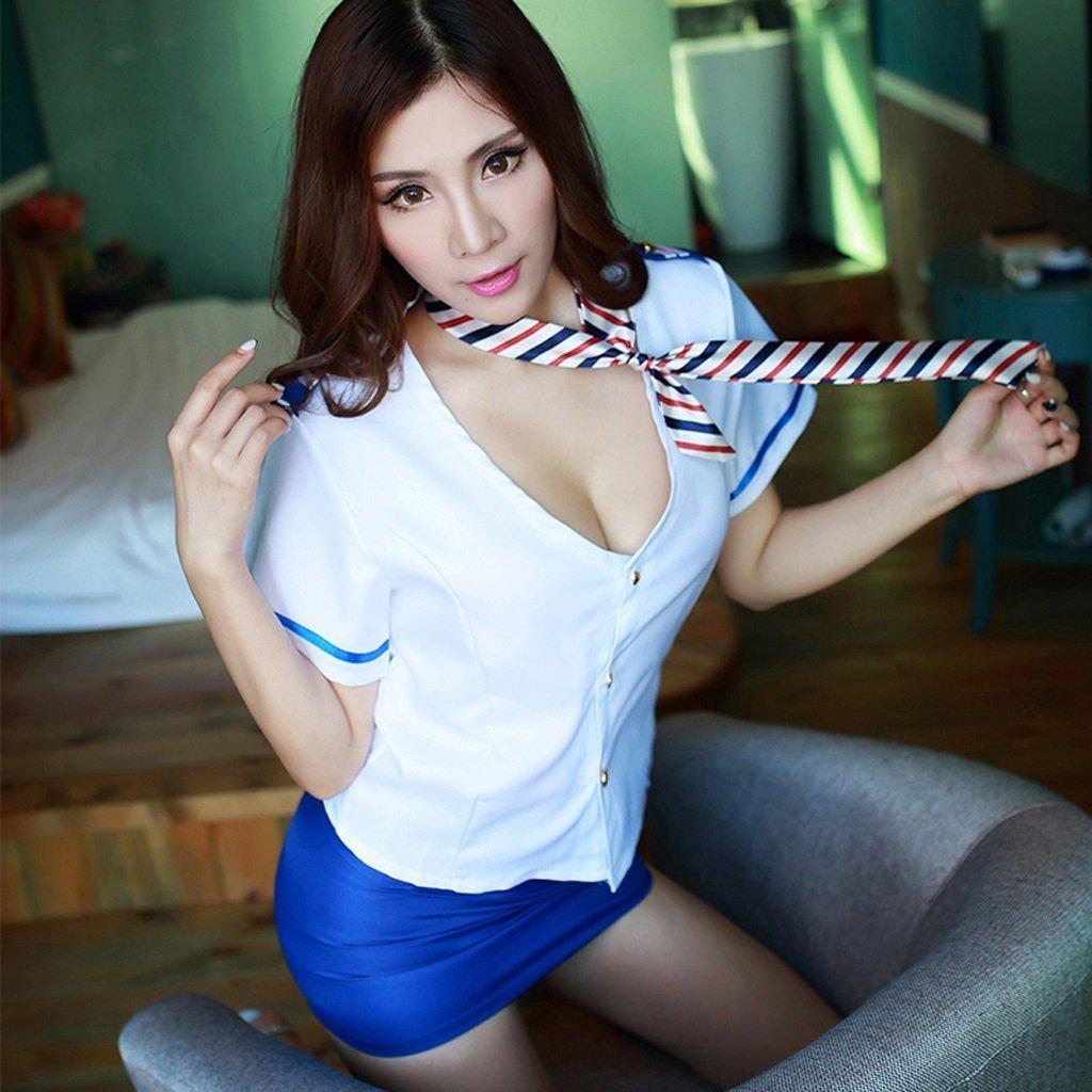SMSM Stewardess Uniforms Temptation Ol Career Wear Excitement Underwear Sets T Female Sensuality Extreme Show Sm Open Crotch Tease by SMSM