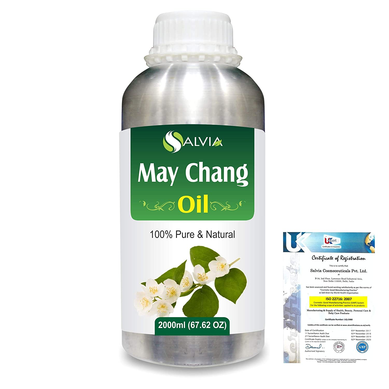 May Chang (Litsea Cubeba)100% Natural Pure Essential Oil 2000ml/67 fl.oz. B07R3ZFSLS