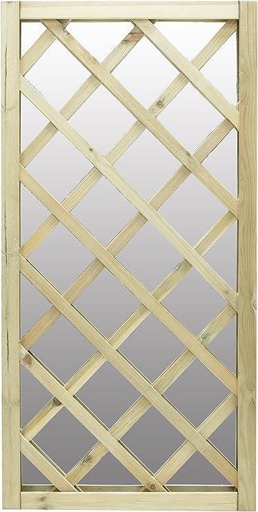 Espejo de jardín, diseño de celosía para ventana: Amazon.es: Jardín