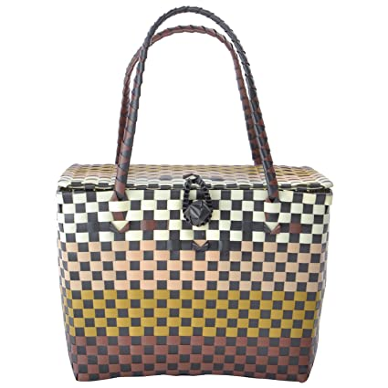 Shraddha Collections Durable Multipurpose Reusable Large Picnic Basket/Tiffin Bag (Brown)