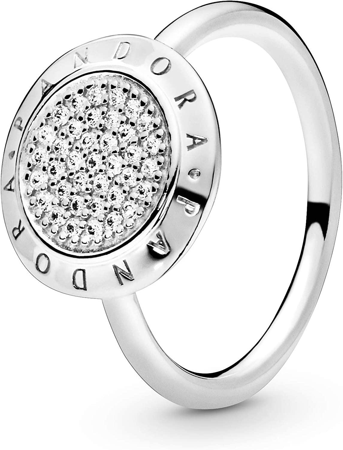 Pandora Jewelry Logo Cubic Zirconia Ring in Sterling Silver
