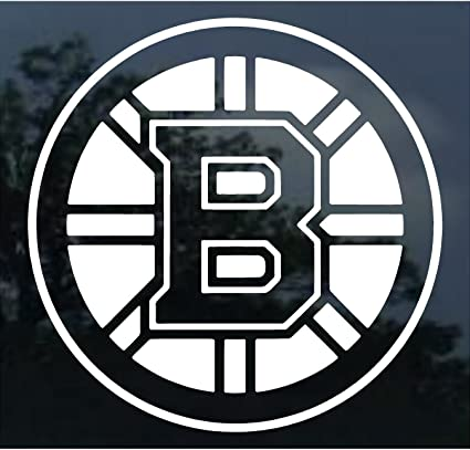 ba53bef71ce Amazon.com   Wincraft NHL Boston Bruins 18   x 18   White Logo Decal    Sports Related Tailgater Mats   Sports   Outdoors
