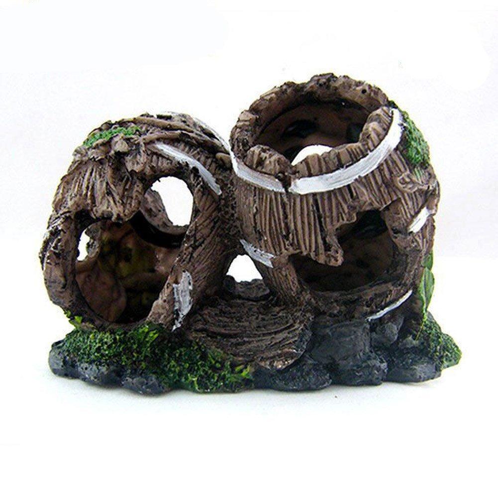 varie dimensioni Pet Online Decorazione Rockery Acquario Grotta decorativi Casa Casa Casa di pesce Pesce serbatoio Decorazioni paesaggistiche, 14  6  10cm  design semplice e generoso