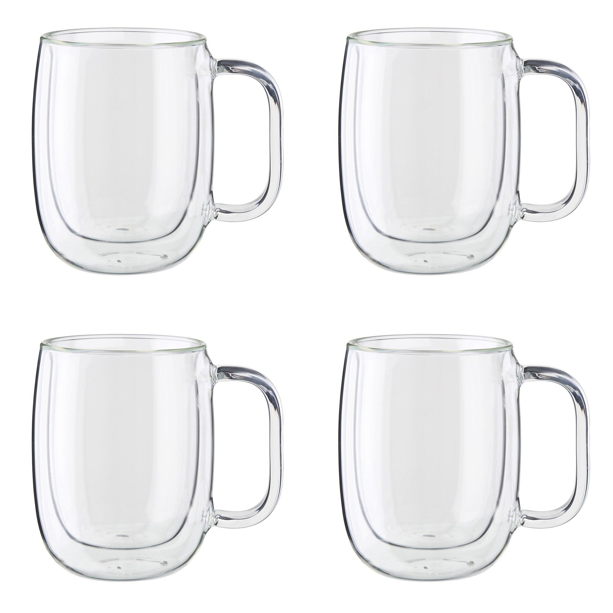 ZWILLING J.A. Henckels 39500-101 Coffee Mug Set, 12 oz, Clear