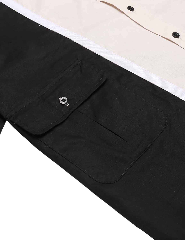 COOFANDY Mens Casual Button Down Shirt Long Sleeve Slim Fit Full Print Shirt