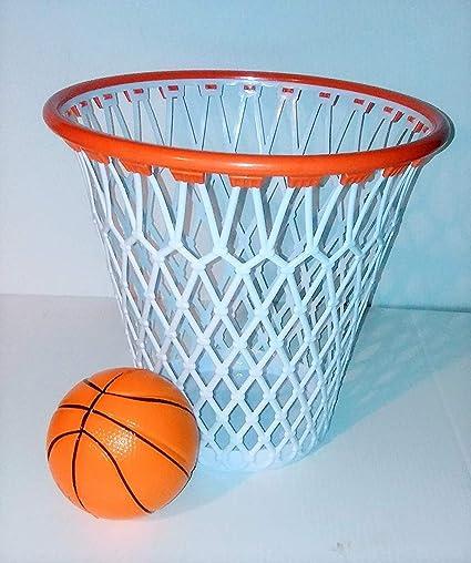 WG Commerce Basketball Hoop Wastebasket with Free Mini Basketball