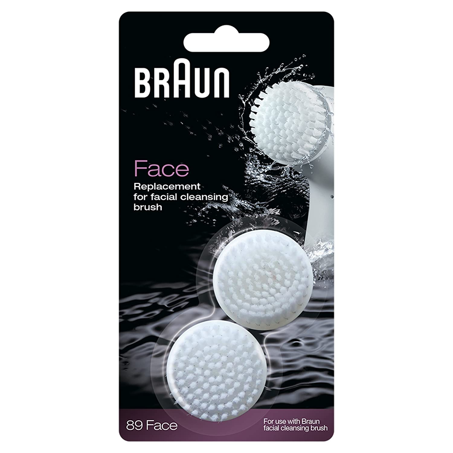 Braun SE89 Silk Epil Facial Brush Refill - Pack of 2 BeautyCentre SE 789