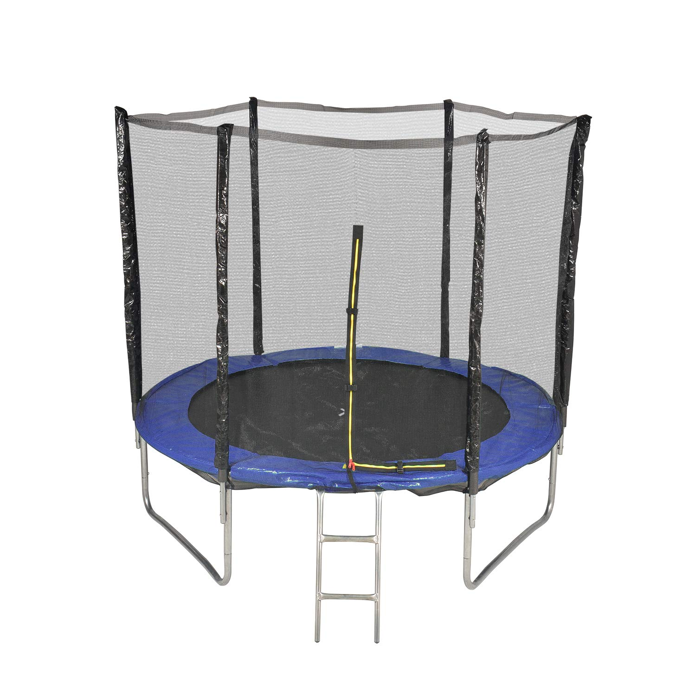Unbekannt Trampolin für den Garten, mit Außennetz, Durchmesser 8 mm, 244 cm, 6 Stangen – Farbe wählbar