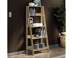 Estante Escada para Livros com 4 Prateleiras Madesa - Carvalho