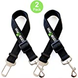 Dog Seat Belts For Cars, Safety Seat Belts For Dogs,Pet Seatbelt,Seat Belt For Dogs,Dog Seatbelt Techer,2 Packs,15 to 26 Inch Adjustable,Small / Medium ,Black