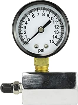 Chrome-Plated 94352 DANCO Gas Test Gauge for 0-15 psi at 1//10 Increments