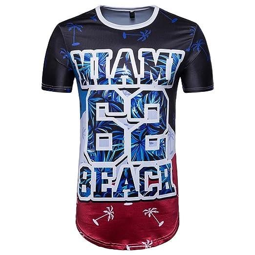 Manga Corta Hombre, ❤️⚽️Ba Zha Hei de Número 99 t-shirt La Copa del Mundo Camisa de Manga Corta con Estampado de Fútbol de Hombres…
