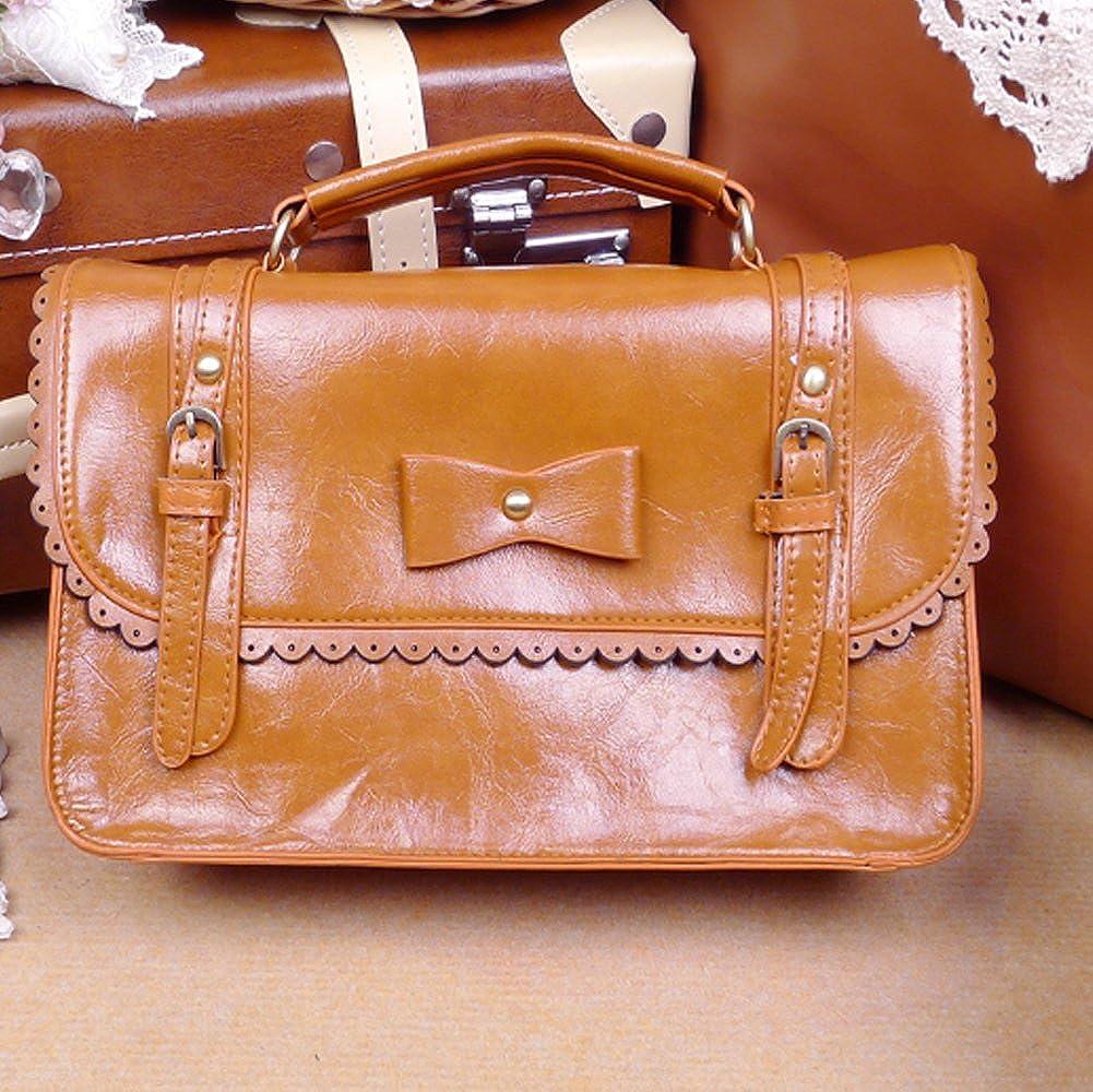 Ladies PU Leather Laptop Bag Briefcase Crossbody Messenger Bags Satchel Purse