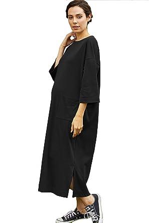 6416d017ce3 Amazon.com  Sweet Mommy Maternity and Nursing Oversized Jumper Shirt ...