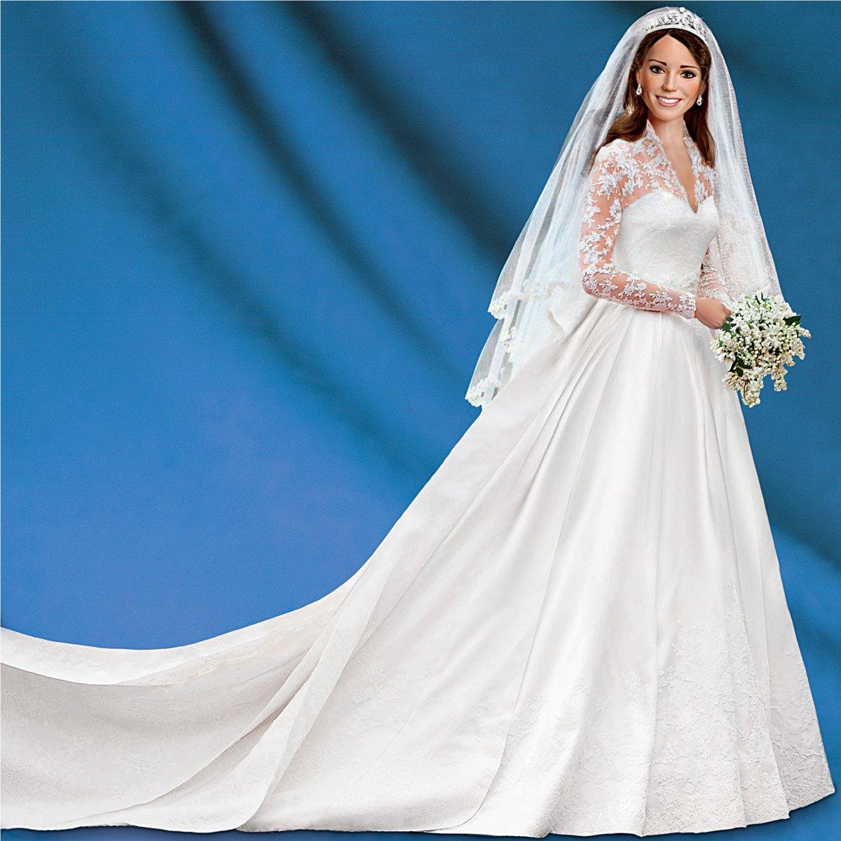 Amazon.com: Kate Middleton Bride Doll | Princess Catherine Wedding ...