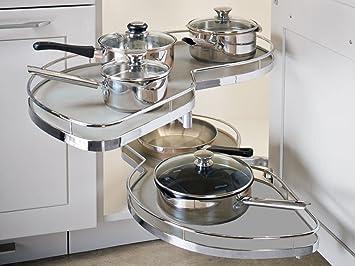 Küche Le Mans Schrank | So Tech 500 Mm Links Lemans Ii Eckschrank Beschlag Silbergrau