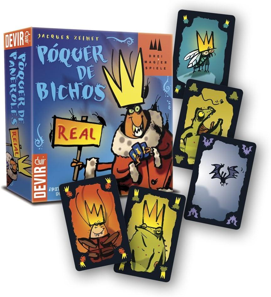 Devir - Póquer de Bichos, Juego de Mesa (BGPOQ): Amazon.es: Juguetes y juegos