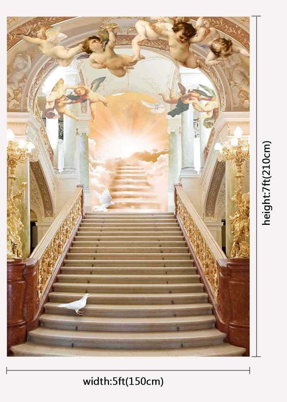 FUERMOR Background 7x5ft Royal Golden Hall Photography Backdrop Wedding Event Studio Photo Props LXFU079
