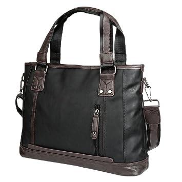 Vbiger Herren PU Leder Handtasche Klassische Schultertasche