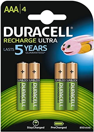 Duracell Battery Stay Charged Nimh Aaa 850 Mah 4pk Of Elektronik