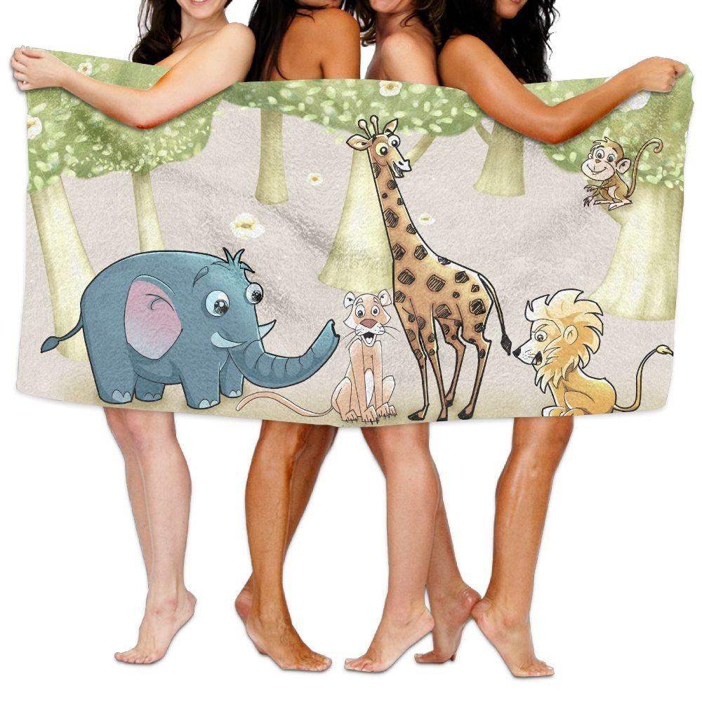 Animal World Premium 100% Cotton Large Bath Towel, Pool & Bath Towel (80 ''x 130'') Natural, Soft, Quick Dry