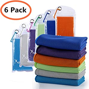 "SYOURSELF Cooling Towels Set for Instant Relief-Cool Bowling Fitness Yoga Towel Set- 40""x12"" Use as Neck Headband Bandana Scarf,Stay Cool for Travel Camping Golf Football&Outdoor Sports"