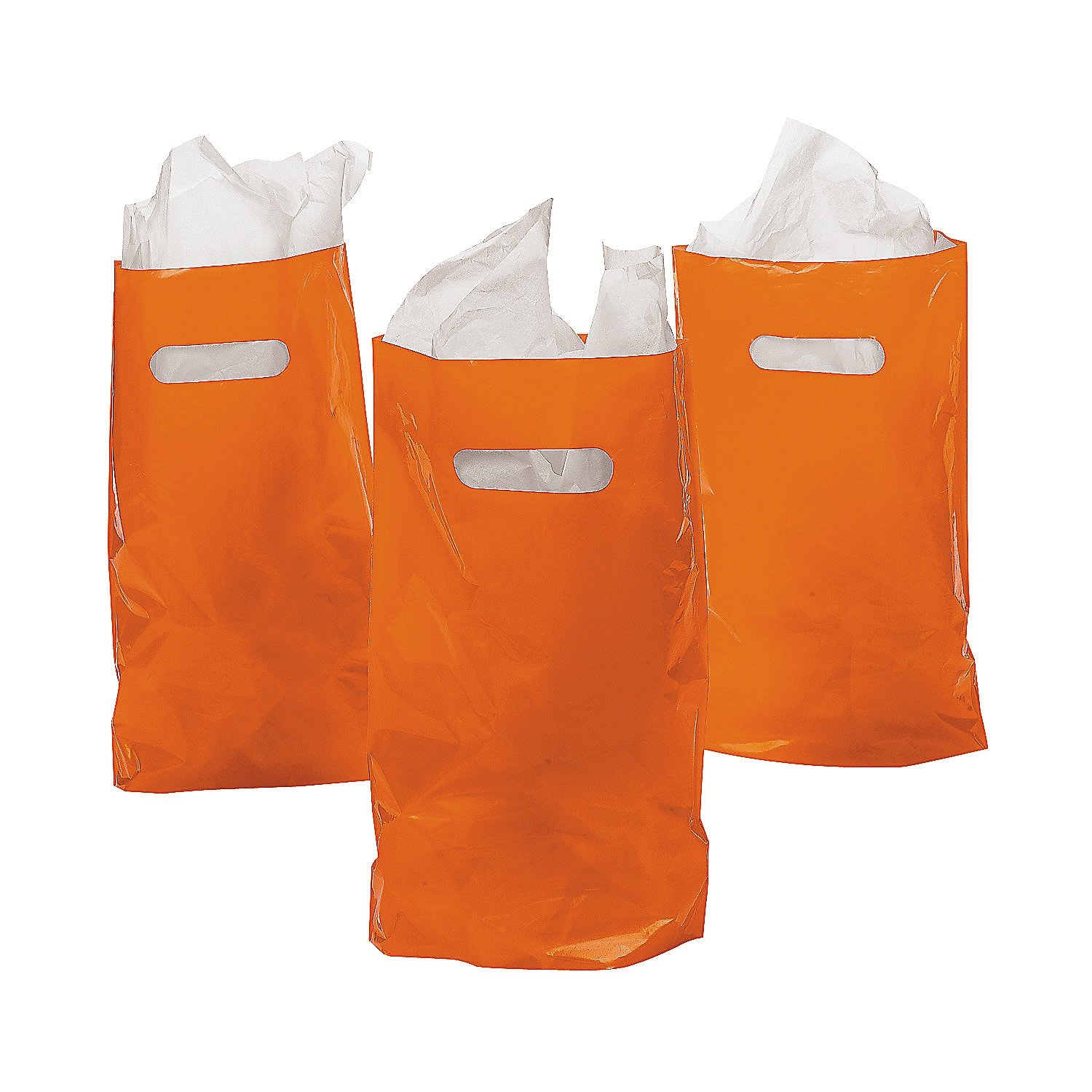 DOMAGRON 8.75 x 12 Orange Treat Package of 50 Goody Bag