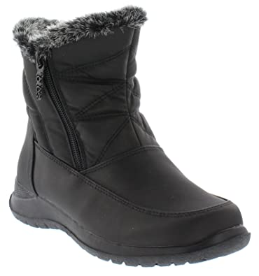 cbced645705 totes Womens Dalia Dual Side Zip Snow Boot