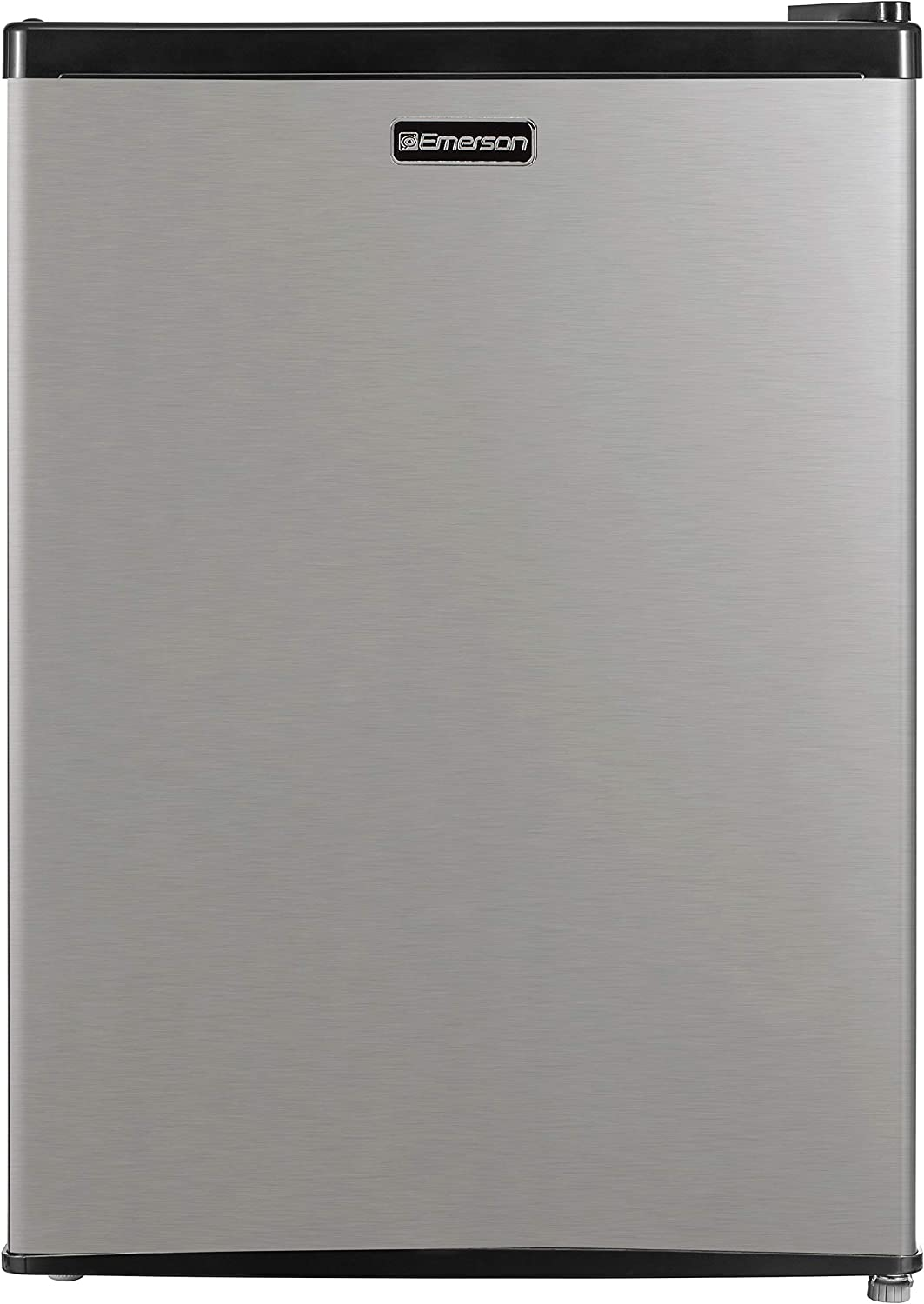 Emerson CR240BSSE 2.4-Cubic Foot Compact Single Door Refrigerator, Stainless Steel