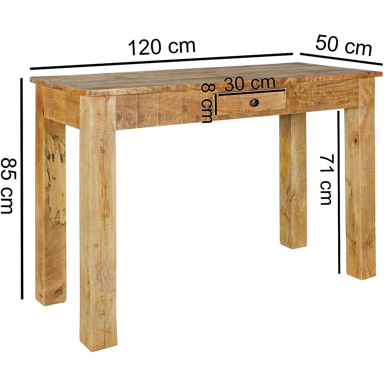 Mesa Consola Rustic 120 x 50 x 85 cm Mango Macizo de Madera Maciza ...
