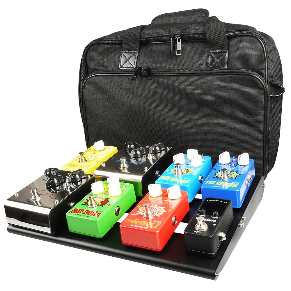 Mr.Power TM Guitar Pedal Board Case 13.8''x11'' Aluminium Pedalboard with Bag