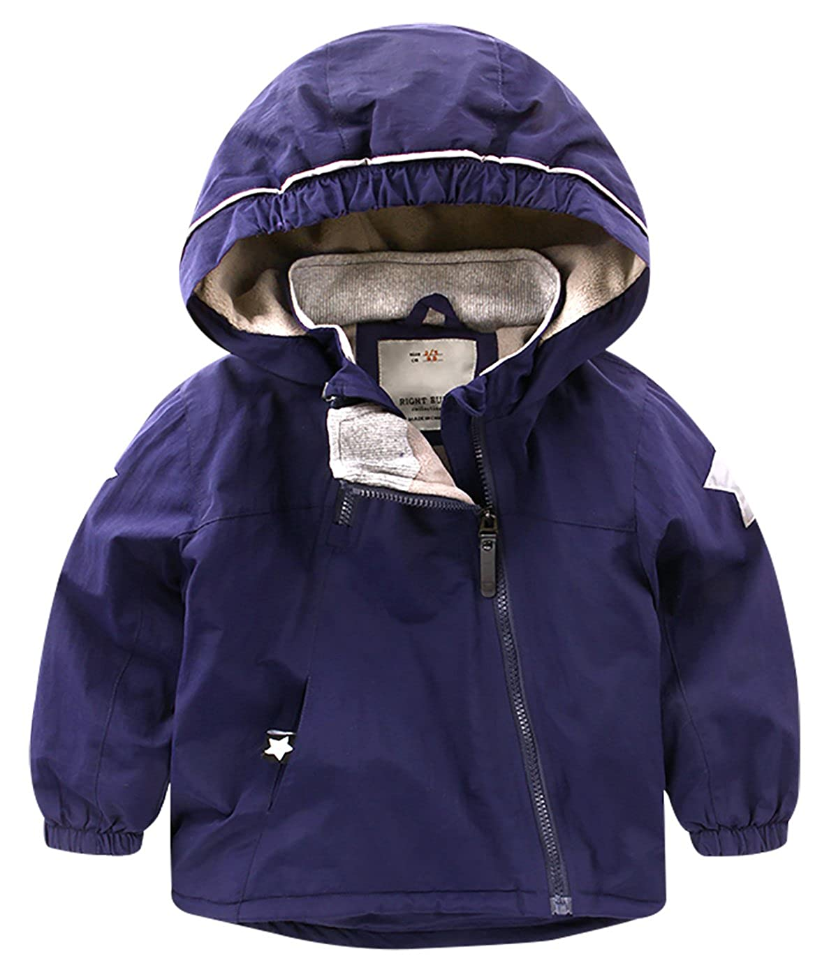 Toddler Kids Outerwear Jackets Coats Children Zipper Hooded Down Jacket Outfit Right Euro