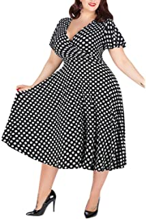 69b5f99470af Nemidor Women s V-Neckline Stretchy Casual Midi Plus Size Bridesmaid Dress