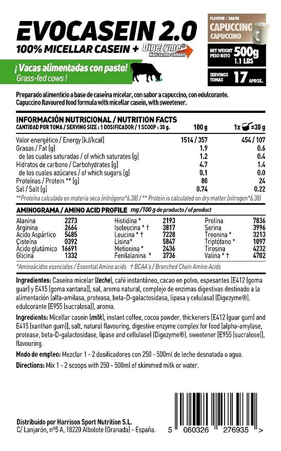 HSN Sports Caseína Micelar de Evocasein 2.0 Sabor Banana - 500 gr: Amazon.es: Salud y cuidado personal