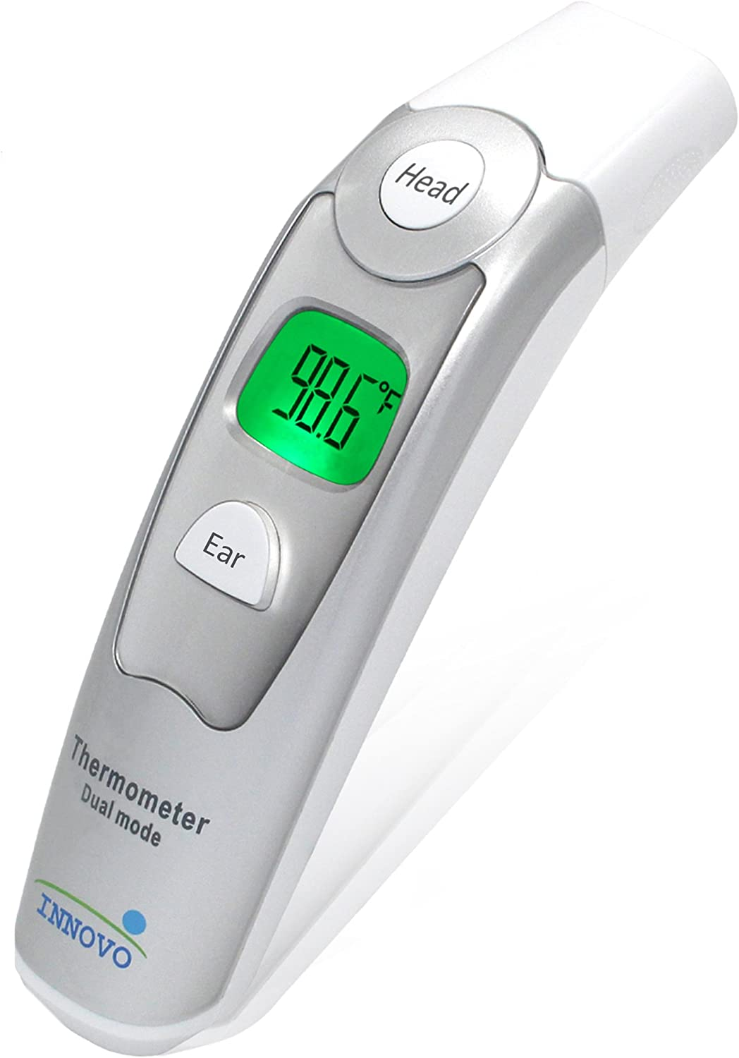 Innovo Medical Forehead and Ear Thermometer – Digital Temperature and Fever Health Alert for Children and Adults – CE and FDA Cleared