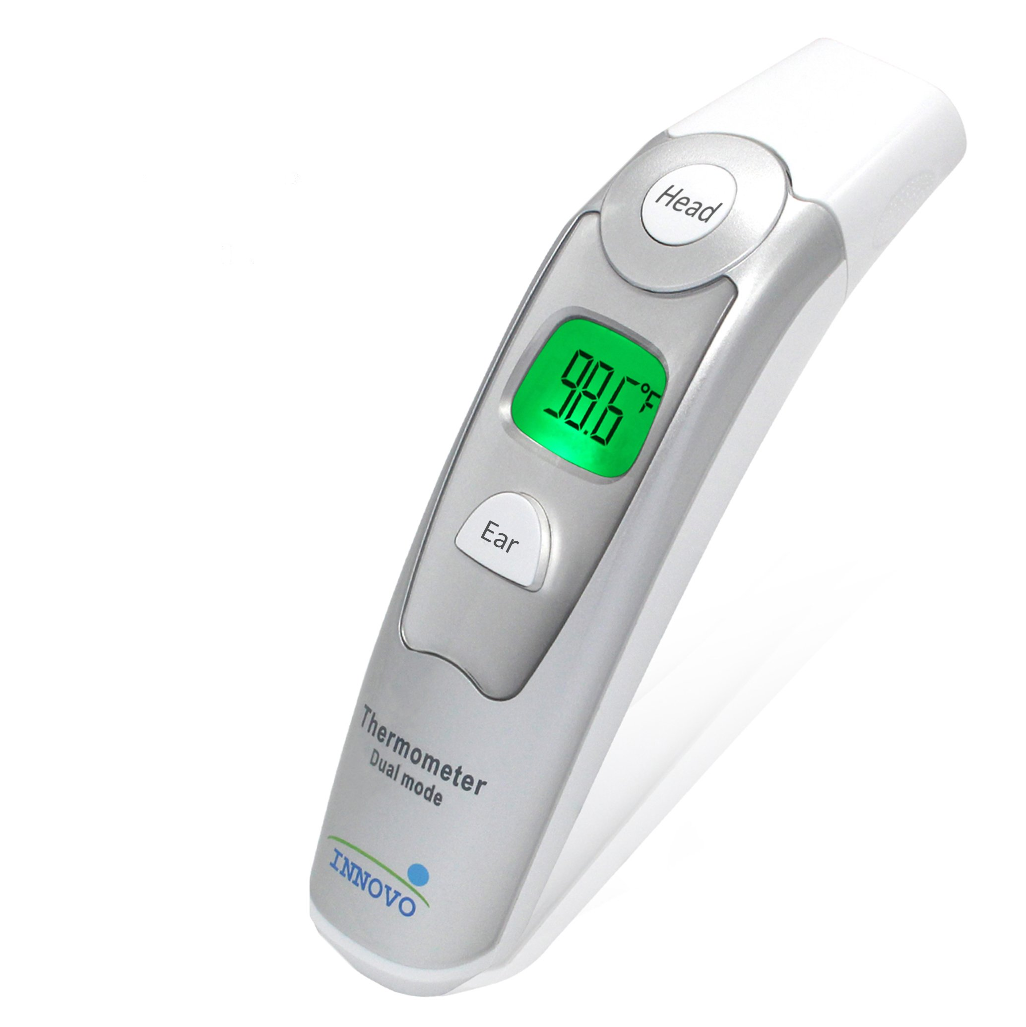 Innovo Medical Digital Forehead and Ear Thermometer Upgraded Model - Temperature and Fever Health Alert Monitoring System for Children and Adults - CE and FDA Cleared