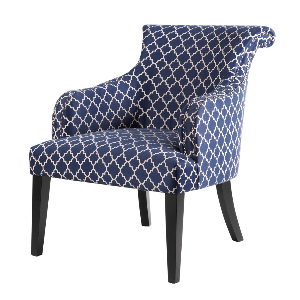 amazoncom alexis rollback accent chair navy see below kitchen u0026 dining